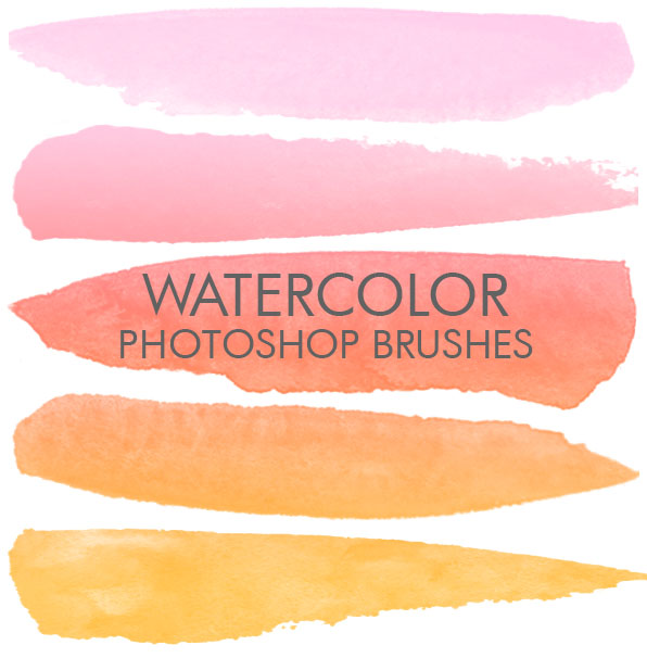 free photoshop Pencil brushes watercolor splatter photoshop brushes cover